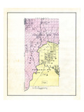 1881, Hancock County Townships 14 20, Waltham, Maine, United States Giclee Print