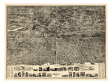 1899, Yonkers 1899 Bird's Eye View 36x47, New York, United States Giclee Print
