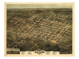 1872, Raleigh Bird's Eye View, North Carolina, United States Giclee Print