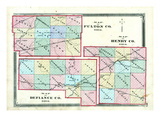 1875, Henry County, Fulton County, Defiance County Maps, Ohio, United States Giclee Print