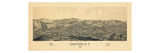 Chatham 1886 Bird's Eye View, New York, United States, 1886 Giclee Print