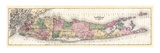 1873, Long Island Map, New York, United States Giclee Print