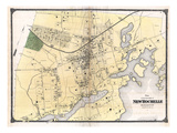 1867, New Rochelle Plan, New York, United States Giclee Print