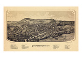 1890, Cooperstown,1890, Bird's Eye View, New York, United States Giclee Print
