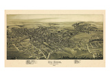 1895, Dubois Bird's Eye View, Pennsylvania, United States Giclee Print