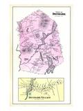 1880, Denmark Town, Denmark Village, Maine, United States Giclee Print
