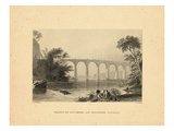 1840, Washington D.C View of Viaduct on Baltimore and Washington Railroad, District of Columbi Giclee Print
