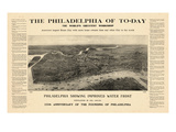 1908, Philadelphia Bird's Eye View, Pennsylvania, United States Giclee Print