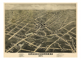 1875, Gloversville  Bird's Eye View, New York, United States Giclee Print