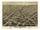 1875, Gloversville  Bird's Eye View, New York, United States Giclee Print