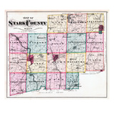 1875, Stark County Map, Ohio, United States Giclee Print