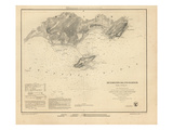 1851, Richmond's Island Harbor Chart Maine, Maine, United States Giclee Print