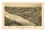 1896, Verona Bird's Eye View, Pennsylvania, United States Giclee Print