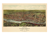 1907, Philadelphia Manayunk - Bird`s Eye View, Pennsylvania, United States Giclee Print