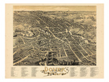 1888, Dover Bird's Eye View, New Hampshire, United States Giclee Print