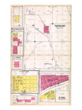 1918, Ardmore, Nickellton, Bloomington, La Porte, Love Lake, Ethel, Woodville, Centreville, Missour Giclee Print