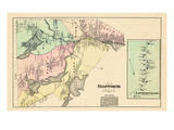 1881, Ellsworth City, East Surry Village, Maine, United States Giclee Print
