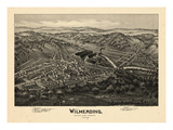 1897, Wilmerding Bird's Eye View, Pennsylvania, United States Giclee Print