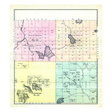 1881, Hancock County Townships 15 16 21 22, Eastbrook, Maine, United States Giclee Print