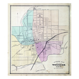 1873, Index Map - Wooster City, Ohio, United States Giclee Print