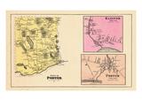 1880, Poter Town, Hanover Village, Porter Village, Maine, United States Giclee Print