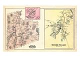 1880, Oxford Town, Oxford Village, Welchville Village, Maine, United States Giclee Print