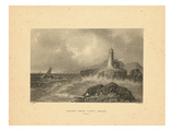 1839, Desert Rock Light House View, Maine, United States Giclee Print