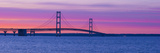 Silhouette of a Suspension Bridge at Sunset, Mackinac Bridge, Michigan, USA Photographic Print by  Panoramic Images