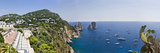 Boats in the Sea, Faraglioni, Capri, Naples, Campania, Italy Photographic Print by  Panoramic Images