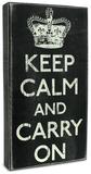 Keep Calm and Carry On Cartel de madera