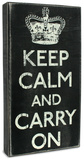 Keep Calm Box Sign Wood Sign