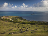 High Angle View of a Village at the Coast, Pompee, Hermitage Island, Rodrigues, Mauritius Photographic Print by Green Light Collection