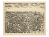 1909, Pawling 1909 Bird's Eye View, New York, United States Giclee Print