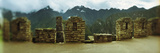 Ruins of Buildings with Mountains in the Background, Inca Ruins, Machu Picchu, Cusco Region, Peru Photographic Print by  Panoramic Images
