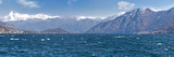 Mountain Range at the Lakeside, Lake Como, Como, Lombardy, Italy Photographic Print by  Panoramic Images