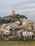 Town on a Hill, Posada, Golfo Di Orosei, Sardinia, Italy Photographic Print by Green Light Collection