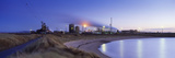 Steel Mill at Dusk, Redcar Steelworks, South Gare, Redcar, Cleveland, England Photographic Print by  Panoramic Images