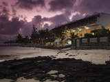 Hotel on the Beach at Dusk, Blue Lagoon Beach Hotel, Blue Bay, Mauritius Photographic Print by Green Light Collection