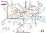 Plan du métro de Londres 2013 Affiche