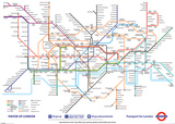 London Underground Map 2013 Plakat