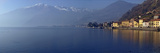 Town at the Waterfront, Domaso, Lake Como, Como, Lombardy, Italy Photographic Print by  Panoramic Images