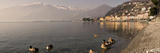 Town at the Lakeside, Nobiallo, Lake Como, Como, Lombardy, Italy Photographic Print by  Panoramic Images