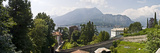 Houses in a Town, Villa Melzi, Lake Como, Bellagio, Como, Lombardy, Italy Photographic Print by  Panoramic Images
