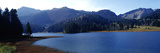 Lake with Mountains in the Background, Spitzingsee, Bavaria, Germany Photographic Print by  Panoramic Images