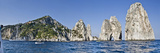 Rock Formations in the Sea, Faraglioni, Capri, Naples, Campania, Italy Photographic Print by  Panoramic Images
