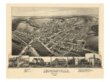 1889, Minersville Bird's Eye View, Pennsylvania, United States Giclee Print