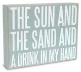 Sun Sand Drink Box Sign Wood Sign
