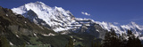 Low Angle View of a Mountain Range, Mt Jungfrau, Lauterbrunnen Valley, Wengen, Bernese Oberland,... Photographic Print by  Panoramic Images