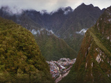 High Angle View of a Town, Aguas Calientes, Andes, Urubamba Province, Cusco Region, Peru Photographic Print by  Panoramic Images