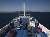 Cars in a Ferry, Isola Maddalena, Sardinia, Italy Photographic Print by Green Light Collection